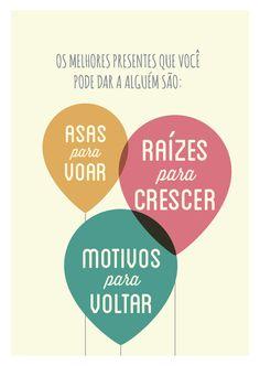 Poster Frase Os melhores presentes que voce - Decor10