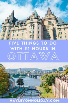 You can see plenty with only one day in Ottawa. Five things to do in Ottawa include the Rideau Canal, Parliament buildings, Chateau and ByWard Market. Cool Places To Visit, Places To Travel, Places To Go, Solo Travel, Travel Usa, Ottawa Canada, Montreal Canada, Canadian Travel, Canadian Rockies