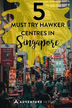 5 Must Try Hawker Centres in Singapore Where to Eat Singapore Singapore Guide, Singapore Travel Tips, Singapore Itinerary, Visit Singapore, Singapore Malaysia, Malaysia Travel, Singapore City, Asia Travel, Singapore Sling