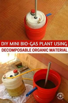 DIY Mini Bio-Gas Plant Using Decomposable Organic Material — Did you know you can produce your own gas to cook with from decomposable organic material and kitchen waste? #prepping #preparedness #prepper #survival #shtf #biogas #biogasplant