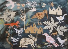 Nature's Bounty collage by Mark Hearld