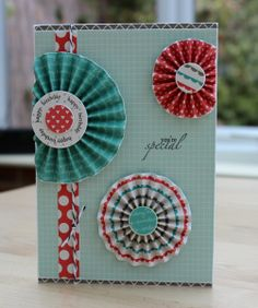Blush Crafts:  Going in Cricles card