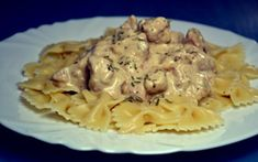 Farfalle mustáros-tárkonyos csirkével Macaroni And Cheese, Spaghetti, Food And Drink, Chicken, Ethnic Recipes, Kitchen, Finger, Mac And Cheese, Cooking