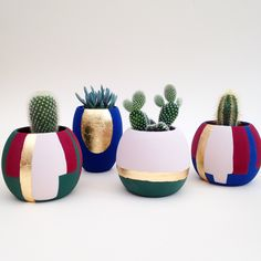We love the vibrancy and extremely matt finish of our hand paint plant pots. We love the vibrancy and extremely matt finish of our hand paint plant pots. Painted Plant Pots, Painted Flower Pots, Pottery Painting Designs, Fleurs Diy, Flower Pot Crafts, Decoration Plante, Concrete Crafts, House Plants Decor, Bottle Crafts