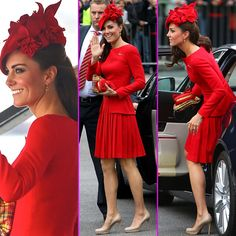 Kate Middleton looked amazing at the Thames Diamond Jubilee Pageant in this gorgeous dress by Alexander McQueen.
