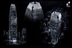 Skyscraper drawn by Eliza Benerat in DOMIN Radom drawing school / Wieżowiec narysowany przez Elizę Benerat w szkole rysunku DOMIN Radom  https://www.facebook.com/DominRadom?fref=photo