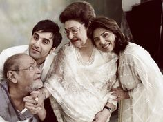 Family affair. #Shammi #Ranbir #Neetu #Kapoor #Bollywood