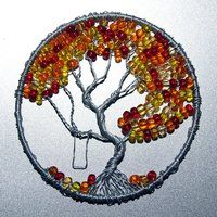 Fall Colors Tree of Life pendant by craftymama