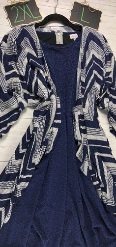 OoooOOOh a Navy blue beauty! Navy blue, embossed, elegant LulaRoe Amelia Dress with this chevron-esque, complimentary LulaRoe Shirley! Outfits by LulaRoe Bobbie's Dreamers -- Join our VIP Shopping Group to Shop or claim! www.bobbiesdreamers.com #bobbiesdreamers #lularoe #ootd #simplycomfortable #lularoefashionista #lularoefashion #becauseoflularoe #forsale