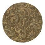 Home and Porch Rivers End Mocha (Brown) 5 ft. 9 in. x 5 ft. 9 in. Indoor/Outdoor Round Area Rug