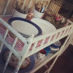 Upcycling our old Nappy Change Table to use as a Servery for a Summer Lunch.