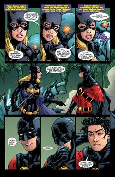 Red Robin and Batgirl - Tim Drake and Stephanie Brown.