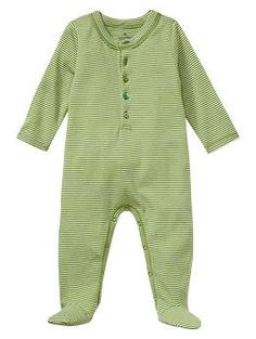 Favorite striped one-piece | Gap  I love green. Nice and unisex.