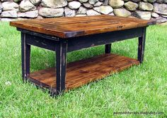 from piano bench to coffee table, living room ideas, painted furniture, repurposing upcycling, rustic furniture, storage ideas, woodworking projects