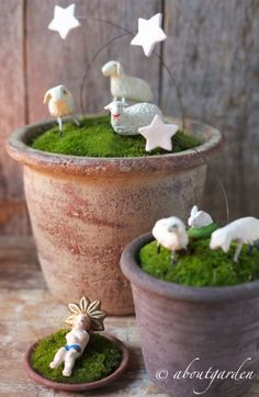 Unique nativity from modeling clay - tutorial ~ Natale al Verde Presepe