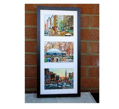 New York Print Set Vertical 3 Archival 5x7 Prints by GwenMeyerson