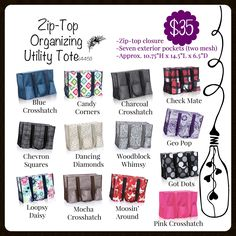 The Zip-Top Organizing Utility Tote aka ZOUT, a customer and consultant fave!