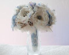 Fabric Brooch Bouquet Fabric Flower Wedding Bouquet by Cultivar