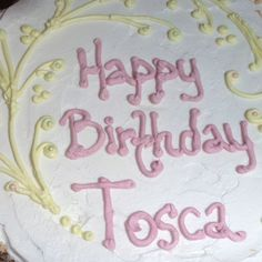 Tosca Reno's (Eat Clean Diet author) birthday cake for today. Made by Kelly's Bake Shoppe