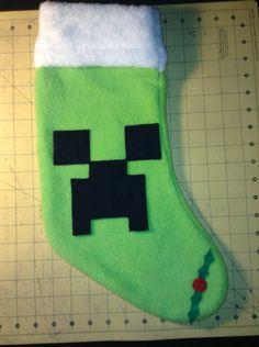 MineCraft Inspired Creeper Christmas Stocking by GeekSplash ...