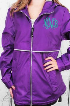 Charles River Women's New Englander Violet Rain Jacket #5099 *Customizable!
