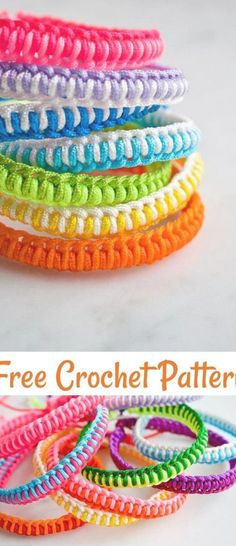 Friendship Bracelet Crochet Pattern,Super Easy Friendship Bracelet Kits-These friendship bracelets crochet patterns will enhance the grace and style all of your informal and formal look and clothing to add a glam touch to them.#freecrochetpatterns Friendship Bracelet Kit, Friendship Bracelets Tutorial, Diy Friendship Bracelets Patterns, Friendship Crafts, Crochet Bracelet Pattern, Crochet Patterns, Crochet Beaded Bracelets, Crochet Gratis, Free Crochet