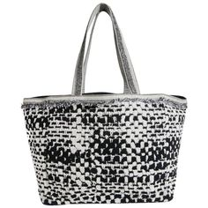 e250a1dd050 For Sale on - This elegant CHANEL beach bag is made of black and gray tweed  effect terry cloth. Kara Feifer · My 1stdibs Favorites