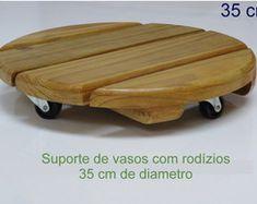 SUPORTE P/ VASOS C/ RODÍZIOS - 34 cm