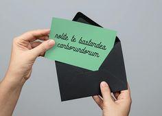 Handmaid's Tale Inspired -  Nolite te bastardes #papergoods #cards @EtsyMktgTool http://etsy.me/2i0kBql