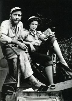 Bogie and Bacall on the set of The African Queen