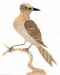 Newspaper Bird on a Limb. Could be made into any animal or inanimate object.