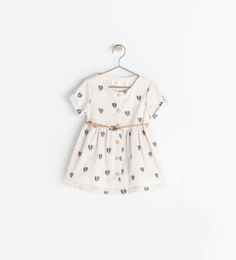 ZARA - KIDS - DRESS WITH EMBROIDERED HEARTS