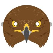 Hawk Mask Template from Animal Masks Lion Kids Crafts, Vbs Crafts, Paper Crafts For Kids, Bible Crafts, Printable Masks, Templates Printable Free, Printable Stickers, How To Do Origami, Mask Template