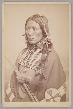 Мужчина Кайова Апачи. Период 1867-1875 гг. Фото W.S.Soule.