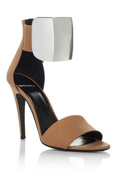 Nude And Silver Neo Altissimo Pump by Pierre Hardy for Preorder on Moda Operandi
