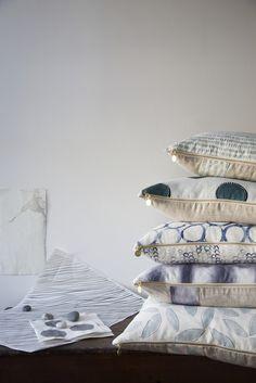 Playful printed pillows