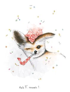 #illustration #Lucy Inzesky #drawing #Ink #Dessin #encres #Fennec #Canaille  #lucy #inzesky