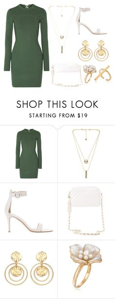"""""""Untitled #657"""" by jediavenger9 ❤ liked on Polyvore featuring 3.1 Phillip Lim, House of Harlow 1960, Gianvito Rossi, Charlotte Russe, Kenneth Jay Lane, Ross-Simons and Schield Collection"""