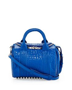 Rockie Small Crossbody Satchel, Royal Blue by Alexander Wang at Neiman Marcus.