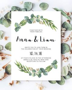 Printable wedding stationery template by Papersizzle