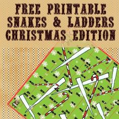 Add some climbing and sliding fun to your holidays with this free Christmas Snakes & Ladders printable game from Itsy Bitsy Fun. Find more free C Snakes And Ladders Template, Snakes And Ladders Printable, Christmas Board Games, Holiday Games, Noyeux Joel, Cute Kids Crafts, Xmas Crafts, Christmas Activities For Toddlers, Printable Board Games