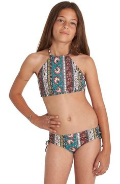 Billabong Hippy Ditsy Two-Piece Swimsuit (Little Girls & Big Girls) available at #Nordstrom