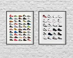 Pigeon Editions Loves Kicks! These original posters feature our favorite Nike Dunks and Air Jordans and collages together all their great designs