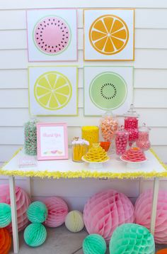 feeling fruity this is juicy party - so many great ideas for a fruit themed party!