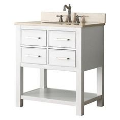 Image Gallery Website Avanity BROOKS VS WT Brooks in Single Bathroom Vanity BROOKS VS WT A