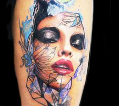 Face Tattoo by Dave Paulo