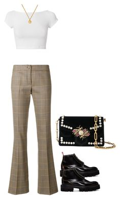 """""""Untitled #3130"""" by hankristina ❤ liked on Polyvore featuring Helmut Lang, Ultràchic, Chanel, Carven and Proenza Schouler"""