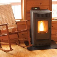 Pellet Stove with 40 lb. Hopper and Auto Ignition sq. Pellet Stove with 40 lb. Hopper and Auto Ignition Best Pellet Stove, Wood Pellet Stoves, Pellet Burner, Foyers, Stove Paint, Wood Pellets, Patio Heater, Mobile Home, The Ranch