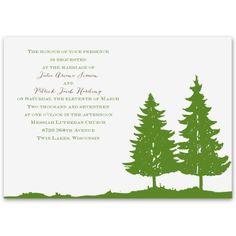 evergreens wedding invitation | nature wedding invites at Ann's Bridal Bargains