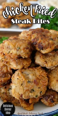 Easy Appetizer Recipes, Yummy Appetizers, Dinner Recipes, Chicken Fried Steak, Steak Recipes, Chicken Recipes, Cooking Recipes, Beef Dishes, Food Dishes